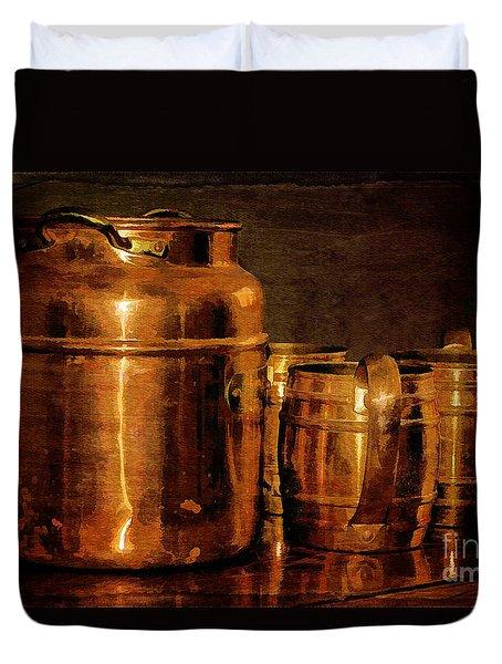 Copper Duvet Cover by Lois Bryan
