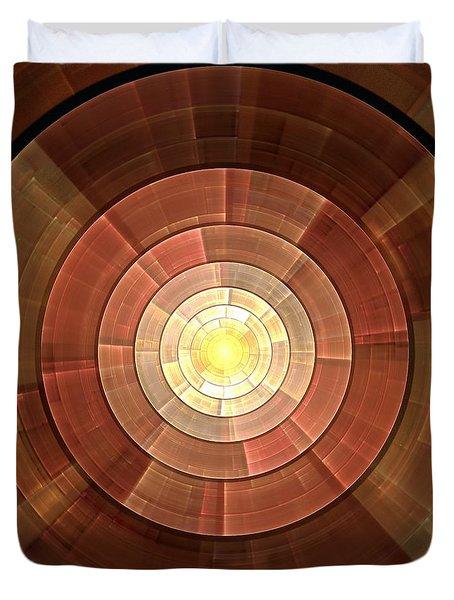 Copper Shield Duvet Cover by Anastasiya Malakhova