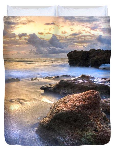 Coral Garden Duvet Cover by Debra and Dave Vanderlaan