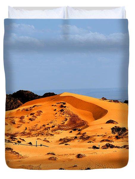 Coral Pink Sand Dunes Utah Duvet Cover by Christine Till