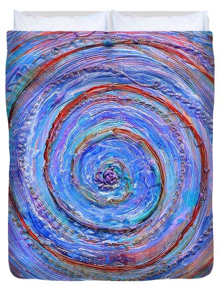 Coriolis 3 Duvet Cover by Regina Valluzzi