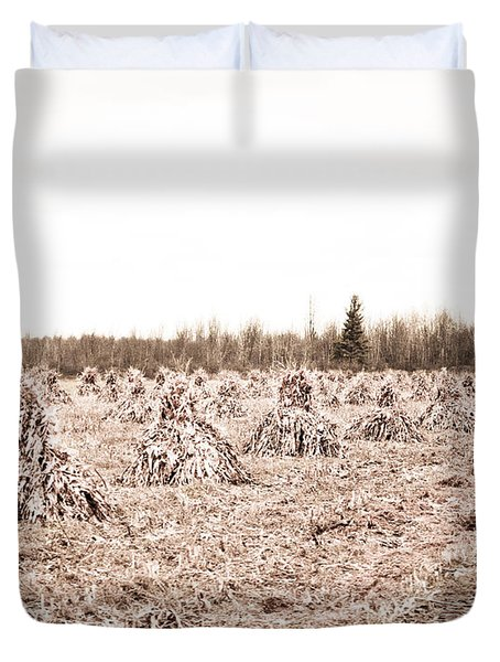 Corn Shocks Duvet Cover by Maggy Marsh