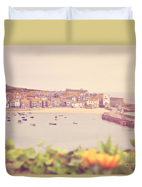 Cornish Harbour Duvet Cover by Lyn Randle