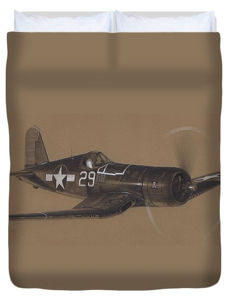 Corsair Triple Ace Duvet Cover by Wade Meyers