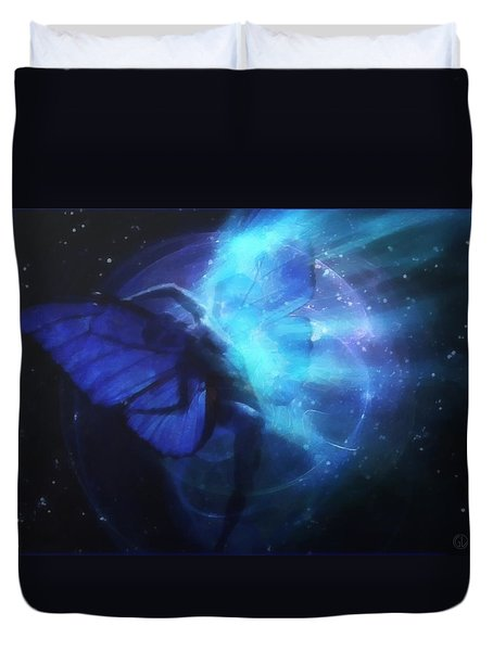 Cosmic Dance Of Joy Duvet Cover by Gun Legler