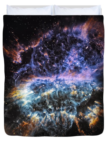 Cosmic Infinity 2 Duvet Cover by The  Vault - Jennifer Rondinelli Reilly