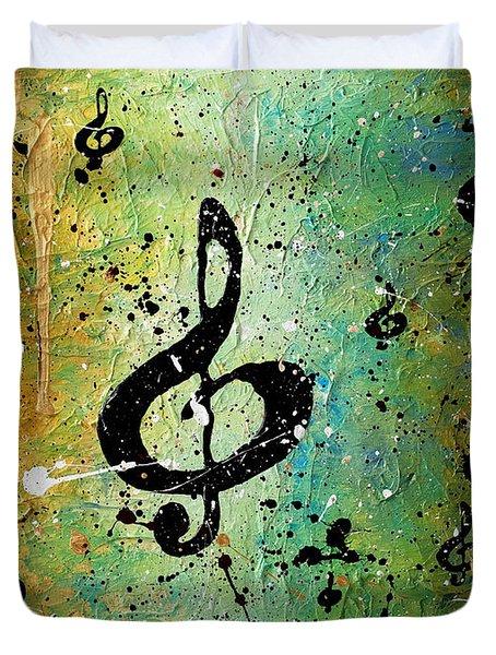 Cosmic Jam Duvet Cover by Carmen Guedez