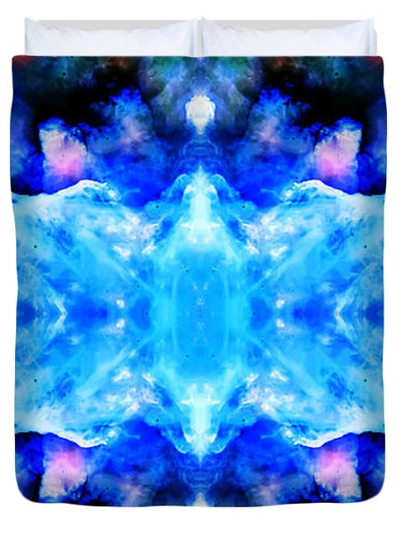 Cosmic Kaleidoscope 1 Duvet Cover by The  Vault - Jennifer Rondinelli Reilly