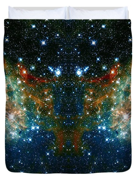 Cosmic Phoenix  Duvet Cover by Jennifer Rondinelli Reilly - Fine Art Photography