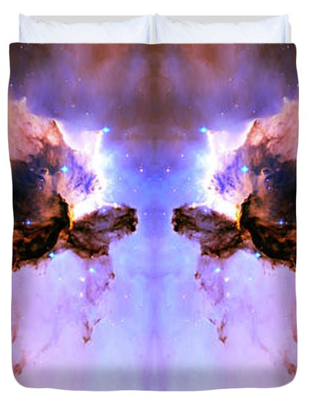 Cosmic Release Duvet Cover by The  Vault - Jennifer Rondinelli Reilly