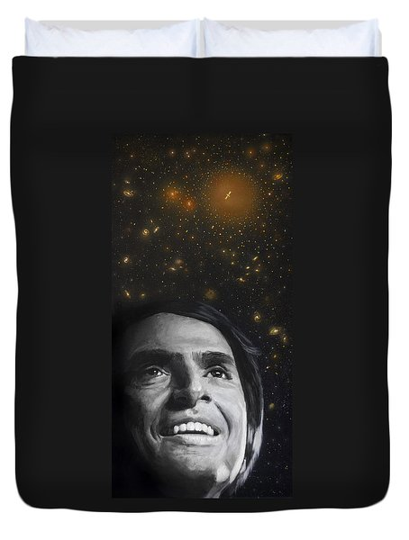 Cosmos- Carl Sagan Duvet Cover by Simon Kregar
