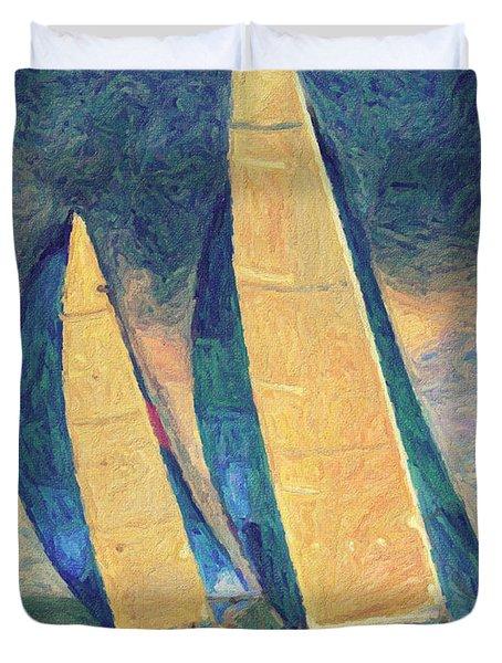 Costa Smeralda Duvet Cover by Taylan Soyturk