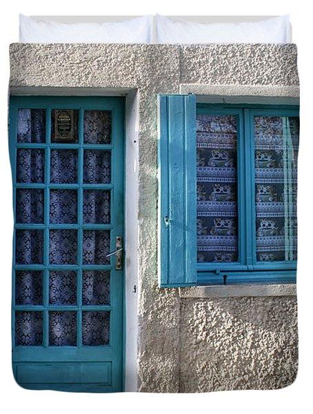 Cottage In France Duvet Cover by Nomad Art And  Design