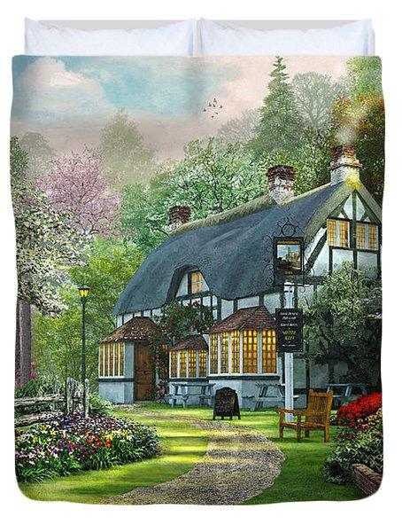 Cottage Pub Duvet Cover by Dominic Davison