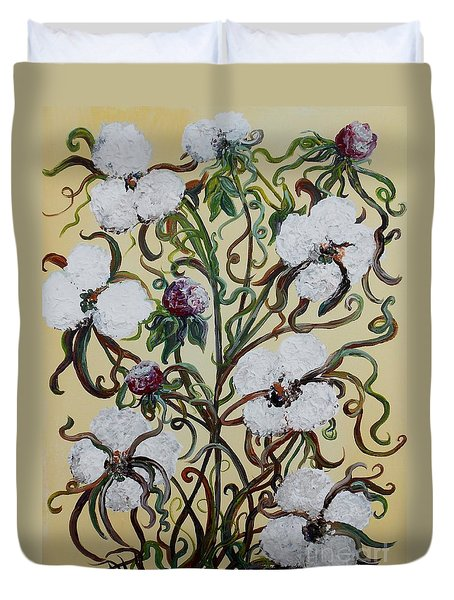 Cotton #1 - King Cotton Duvet Cover by Eloise Schneider