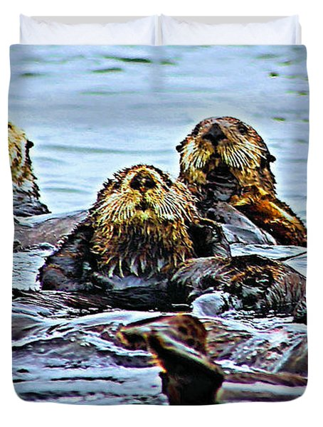 Couch Critters Duvet Cover by Kristin Elmquist