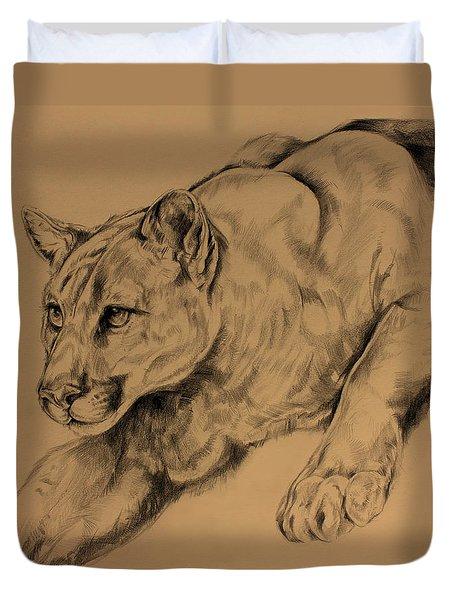 Cougar Duvet Cover by Derrick Higgins