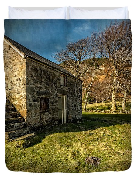 Country Cottage Duvet Cover by Adrian Evans