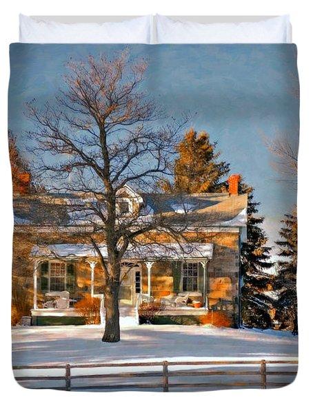 Country Home oil Duvet Cover by Steve Harrington