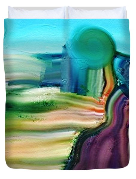 Country Lane Duvet Cover by Lenore Senior