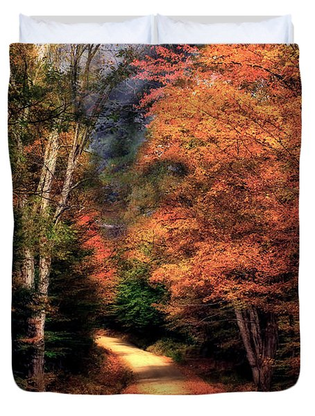 Country Road Duvet Cover by Brenda Giasson