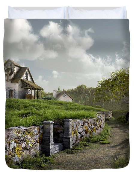 Country Road Duvet Cover by Cynthia Decker
