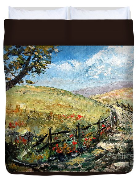 Country Road Duvet Cover by Lee Piper
