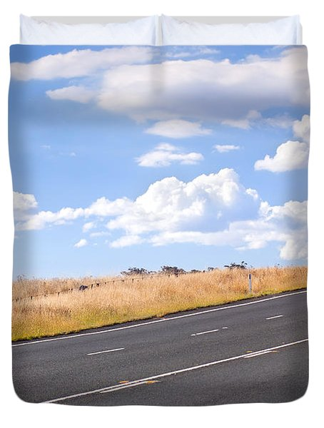 Country Road Duvet Cover by Tim Hester