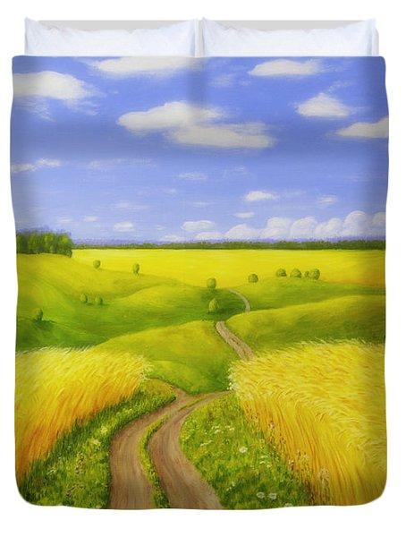 Country Road Duvet Cover by Veikko Suikkanen