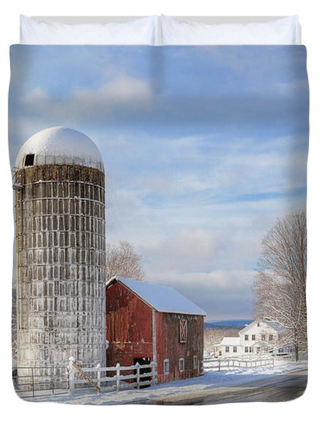 Country Snow Duvet Cover by Bill  Wakeley