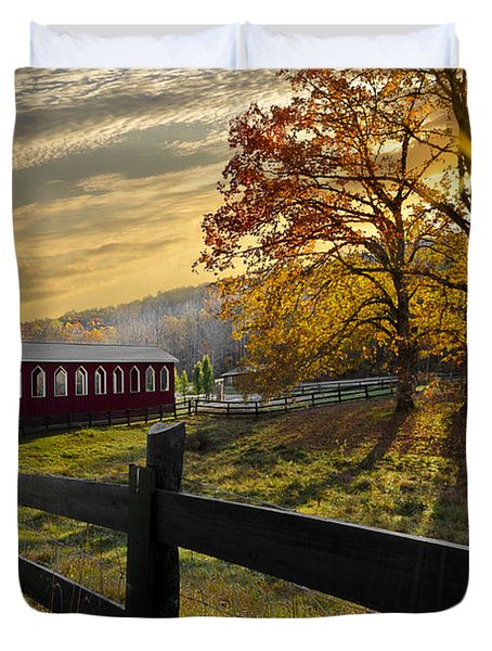 Country Times Duvet Cover by Debra and Dave Vanderlaan