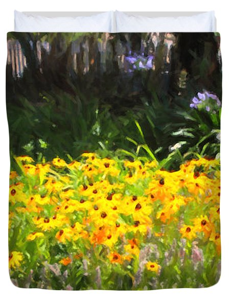 Countryside Cottage Garden 5d24560 Long Duvet Cover by Wingsdomain Art and Photography