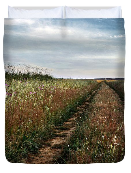 Countryside Tracks Duvet Cover by Carlos Caetano