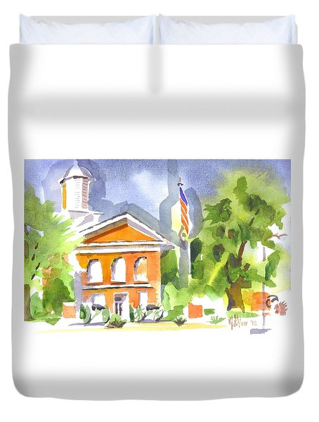 Courthouse Abstractions II Duvet Cover by Kip DeVore