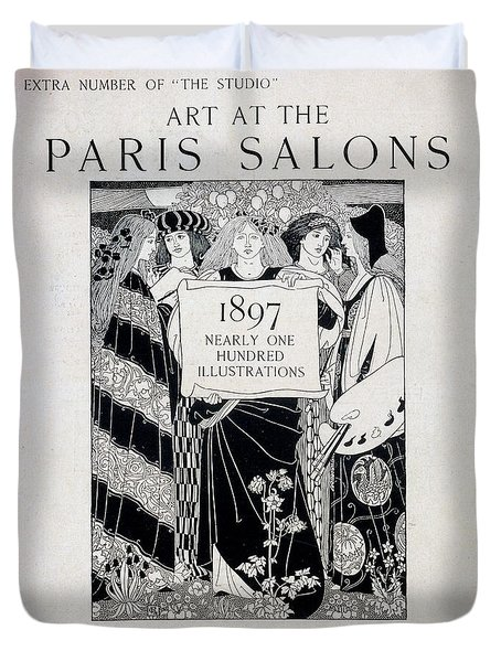 Cover For Art At The Paris Salons Duvet Cover by English School