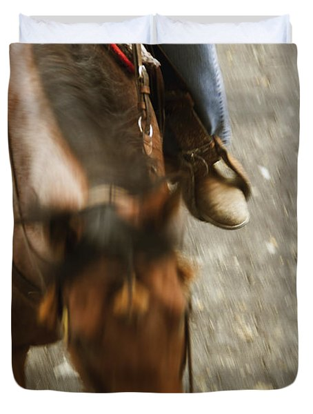 Cowboy Duvet Cover by Margie Hurwich