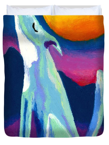 Coyote Azul Duvet Cover by Stephen Anderson