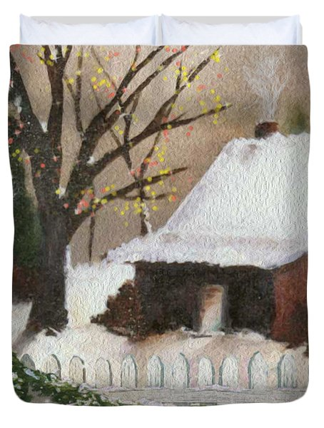 Cozy Cottage Duvet Cover by Cheryl Young