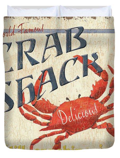 Crab Shack Duvet Cover by Debbie DeWitt