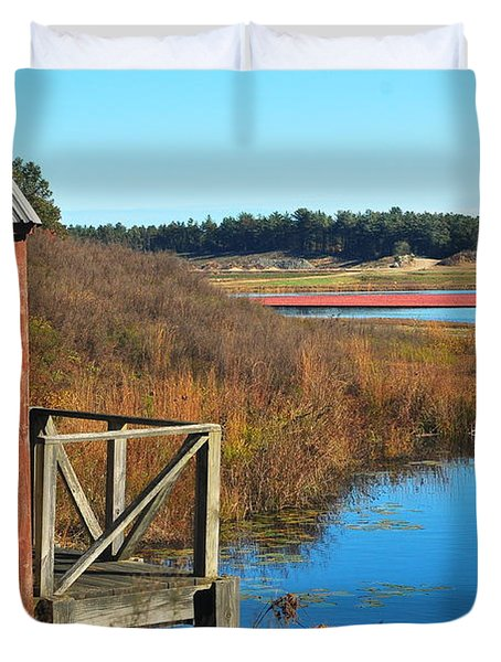 Cranberry Harvest  Duvet Cover by Catherine Reusch  Daley