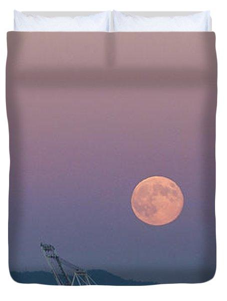 Crane Moon Sail Duvet Cover by Scott Campbell
