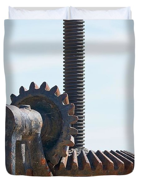 Crank and Gears Duvet Cover by Stuart Litoff