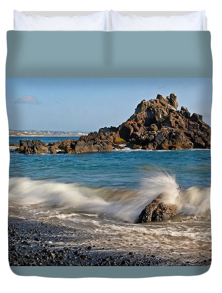 Crashing Of The Waves Duvet Cover by Athena Mckinzie