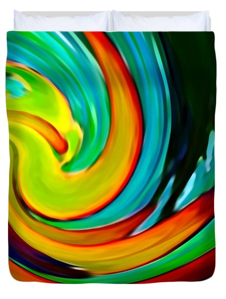 Crashing Wave Duvet Cover by Amy Vangsgard