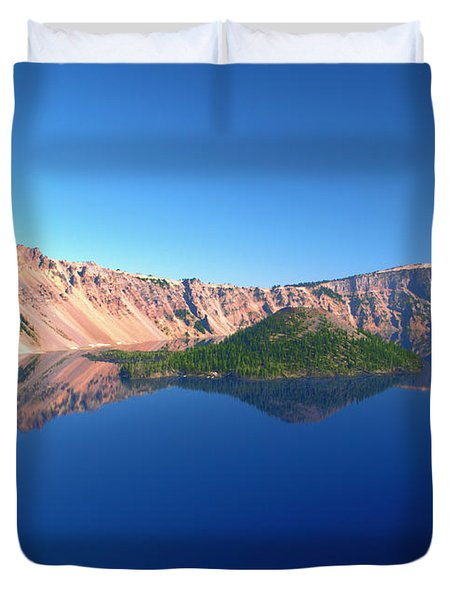 Crater Lake Duvet Cover by Brian Harig