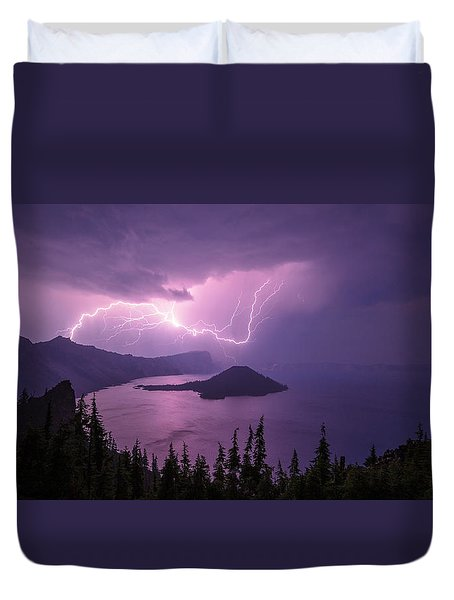 Crater Storm Duvet Cover by Chad Dutson