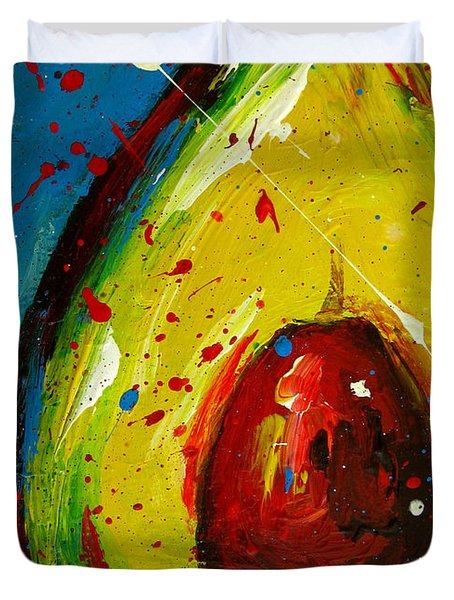 Crazy Avocado 4 Duvet Cover by Patricia Awapara