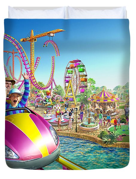 Crazy Coaster Duvet Cover by Adrian Chesterman