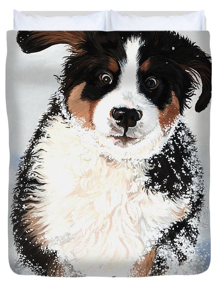 Crazy for Snow Duvet Cover by Liane Weyers