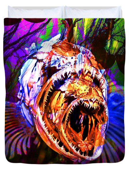 Creatures Of The Deep - Fear No Fish 5D24799 v2 Duvet Cover by Wingsdomain Art and Photography